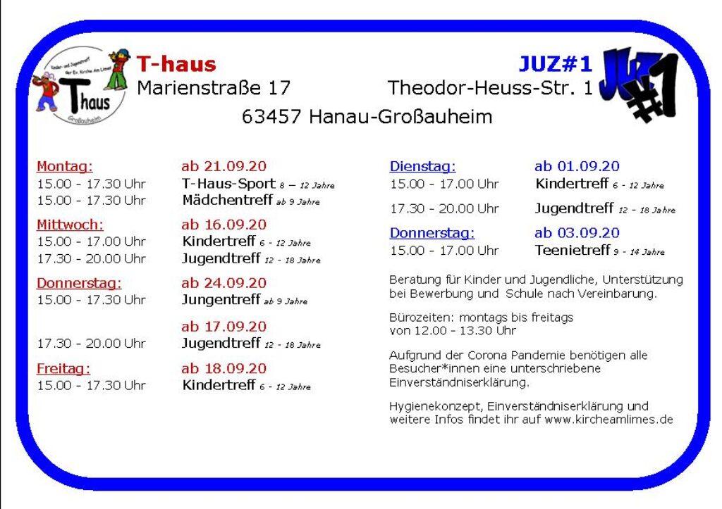 Flyer T-Haus JUZ#1 2020 daten korseite 2