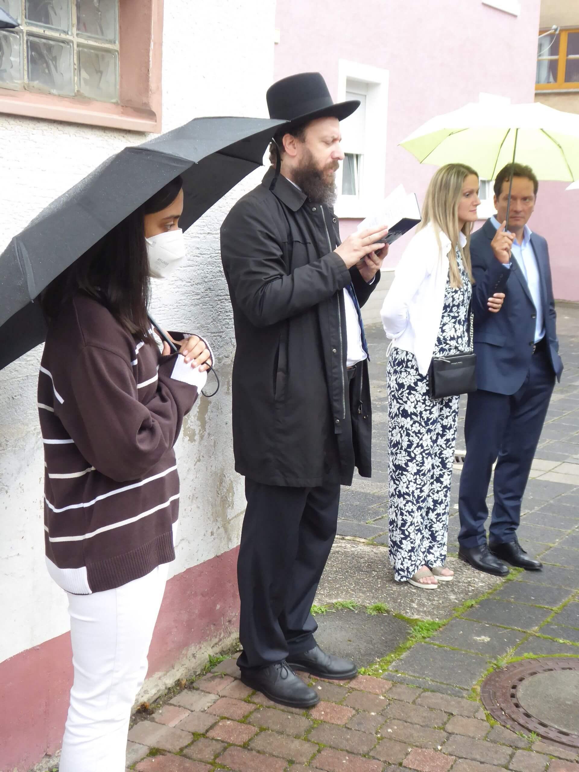 Stolpersteinverlegung Rabbiner Großberg